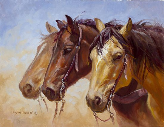 Compadres by Shawn Cameron Oil ~ 11 x 14