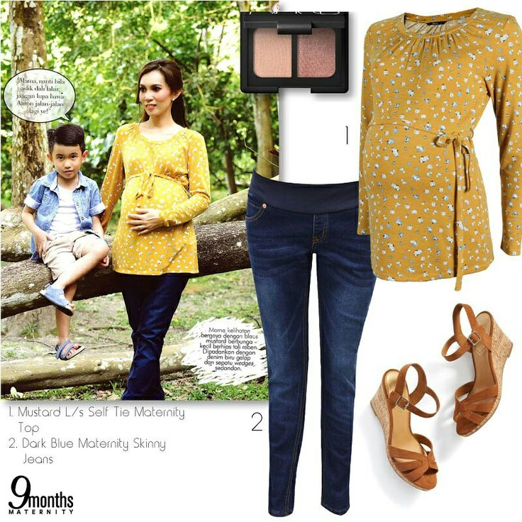 Let's light up the mood with warm autumn hues. You can go for a mustard floral printed blouse match with skinny denim and add in a pair of trendy wedges for a lucky charm. www.9monthsmaternity.com  Shop the look Mustard L/S Self-Tie Maternity Top → http://www.9monthsmaternity.com/mustard-ls-self-tie-top#.WdMRZ1uCyUk  Dark Blue Maternity Skinny Jeans → http://www.9monthsmaternity.com/dark-blue-skinny-jeans#.WdMRuFuCyUk  #9monthsmaternity #maternityclothes #maternitywear #maternityfashion…