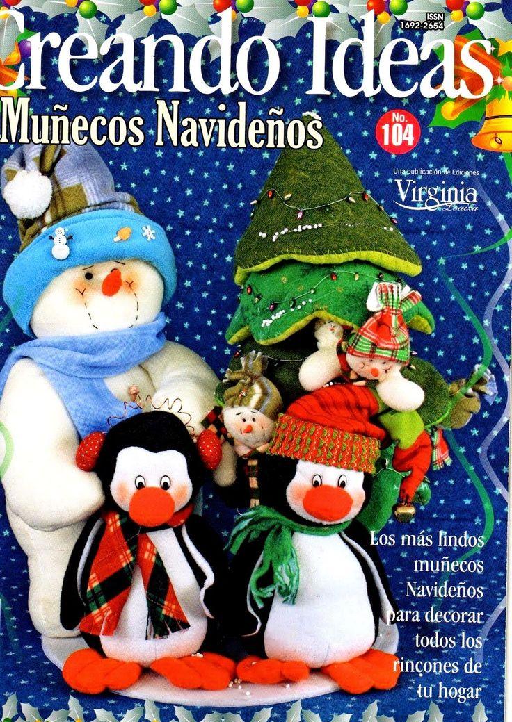 Como hacer muñecos pinguinos navideños