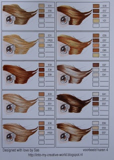 Copic combinations for HAIR COLOR - page 4 of 11
