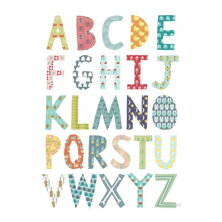 Alphabet Print, Unframed