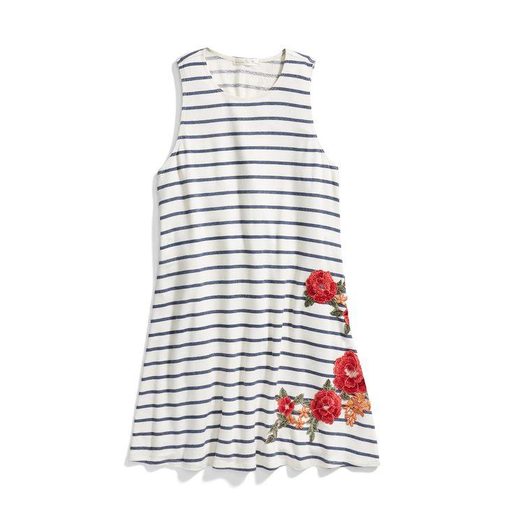 Stitch Fix Spring Styles: Embroidered Stripe Swing Dress