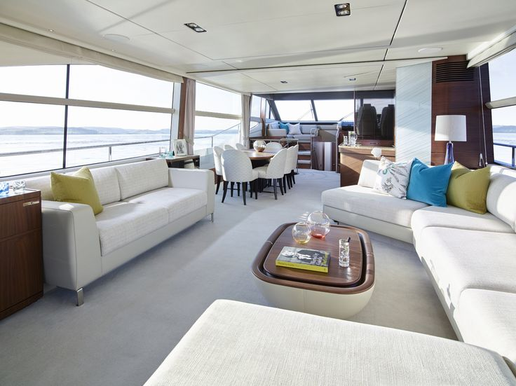 Spectacular Entertaining Space On Board The 75 Motor Yacht Craftedinplymouth Style Interior