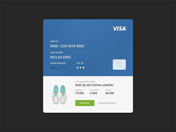Dribbble - Credit Card Checkout by Niclas Ernst