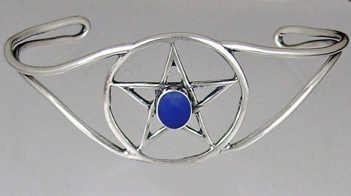 Essential Sterling Silver Pentacle Bracelet Accented With Blue Onyx The Silver Dragon- Bracelets. $75.00. This Bracelet Fits a Standard Woman's Wrist. This Bracelet was Designed by The Silver Dragon, a Jewelry Shop in New England. Thank you for Supporting American Business.. The Silver Dragon uses Sterling Silver that has been Reclaimed... Helping Save Mother Earth's Resources.. Designed And Hand- Crafted in Sterling Silver. This Unique Bracelet is Created only after Your ...