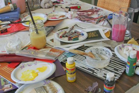 How to Make Mixed-Media Collages - Creating The Background - Laura McHugh's Blog - Half Moon Bay, CA Patch