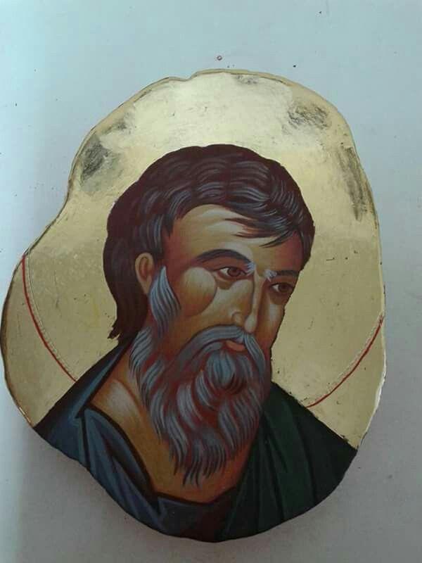 Ikone auf Stein  Apostel Jakobus