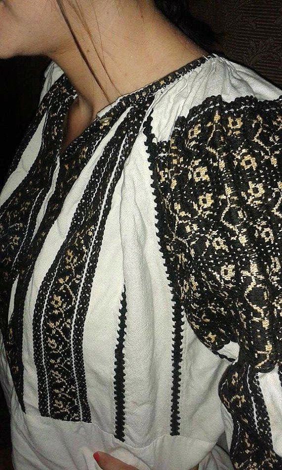Traditional romanian blouse by Thrillofhandmade on Etsy