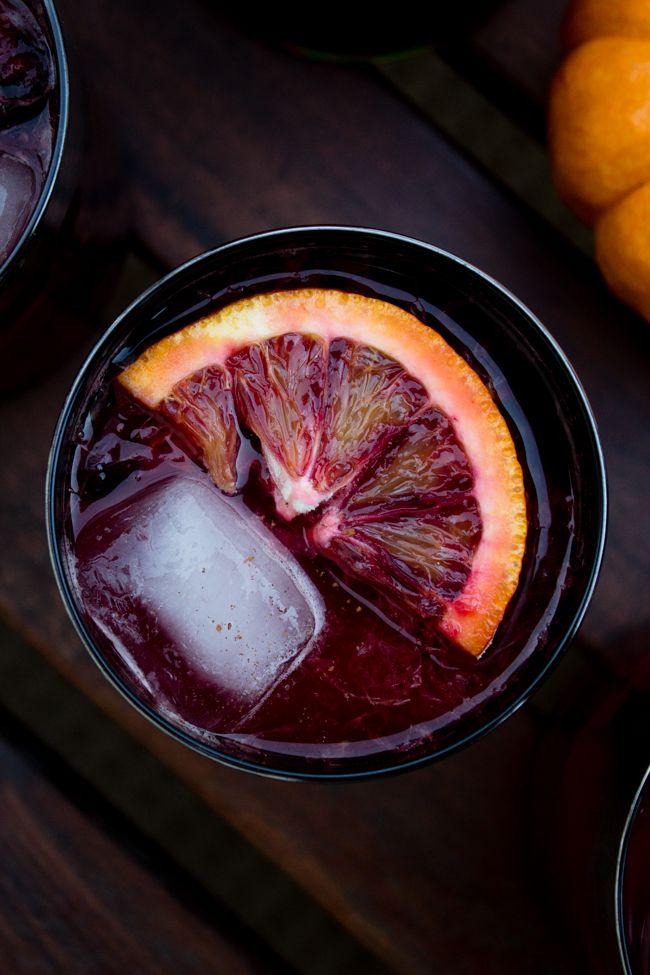 Msg 4 21+ Blood orange and cherry Halloween mojito. #NightOfTheBat , #UnmaskYourSpirit #ad