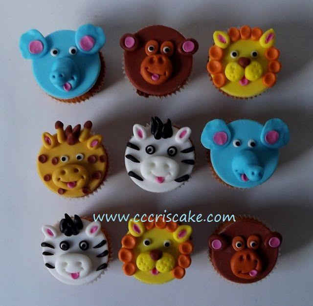 Torturi artistice: Jungle cupcakes