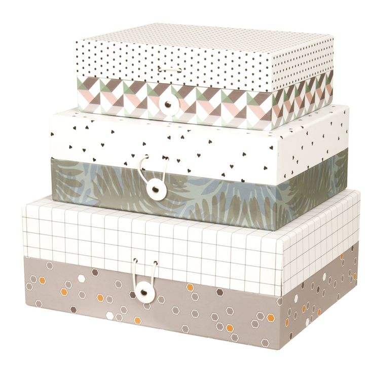 Awesome Harmony Storage Boxes   Set Of 3   Flat. This Gorgeous Set Of 3 Storage  Boxes In Harmony Design Comes In A Floral, Heart And Geometric Print.