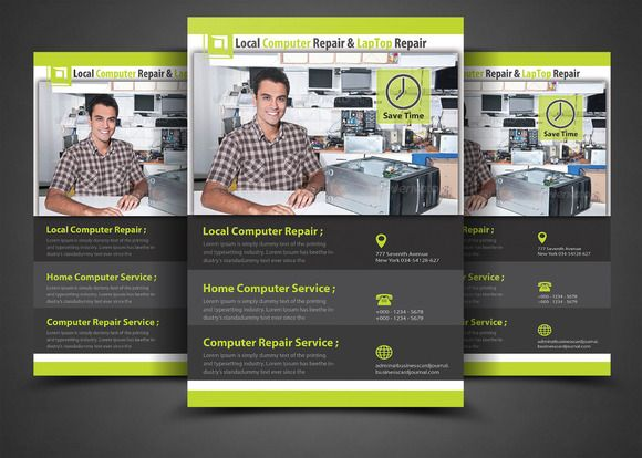 Computer Repair Flyer Template By Afzaalgraphics On Creative
