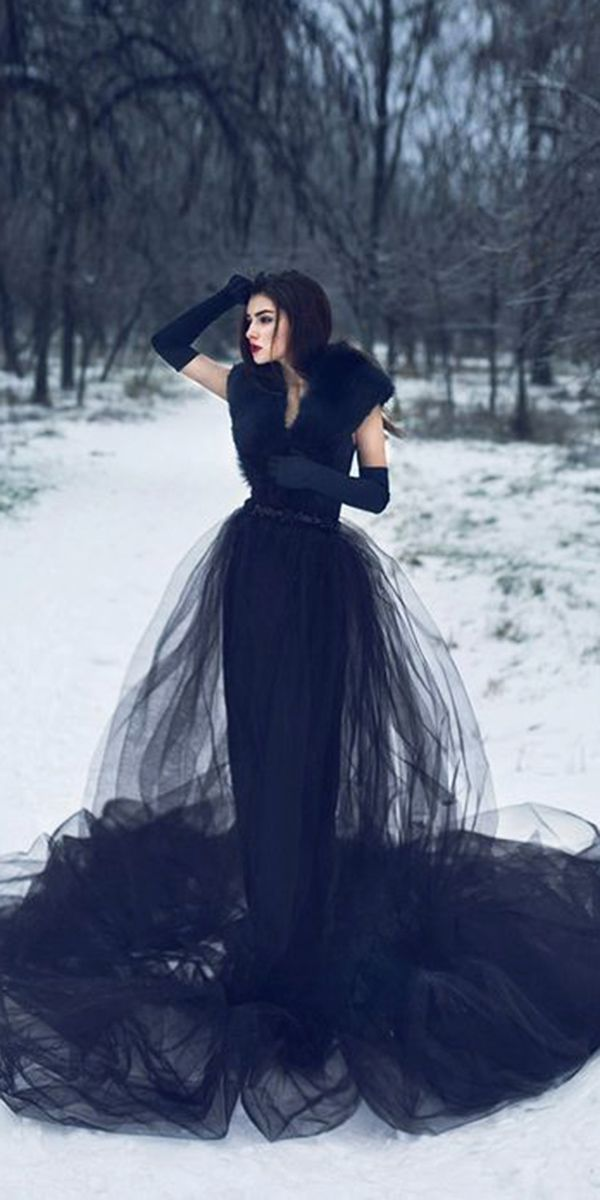a7978552efc1 Dark Romance: 24 Gothic Wedding Dresses | Wedding Ideas | Gothic wedding, Black  wedding dresses, Wedding dresses