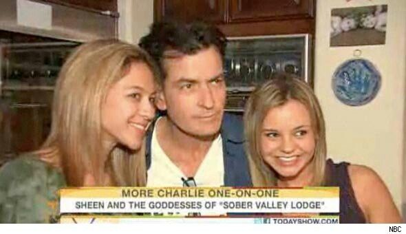 Charlie Sheen & His Goddesses Natalie Kenly & Bree Olson