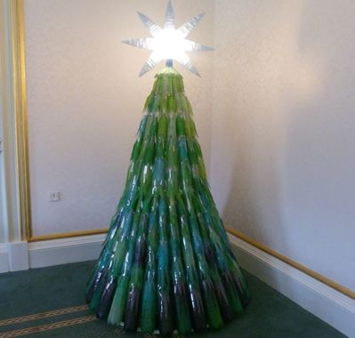 Christmas tree sarah handmade this christmas tree from for Christmas decorations from recycled plastic bottles