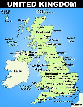 Geography map of UK | facts about the UK (3D Geography)