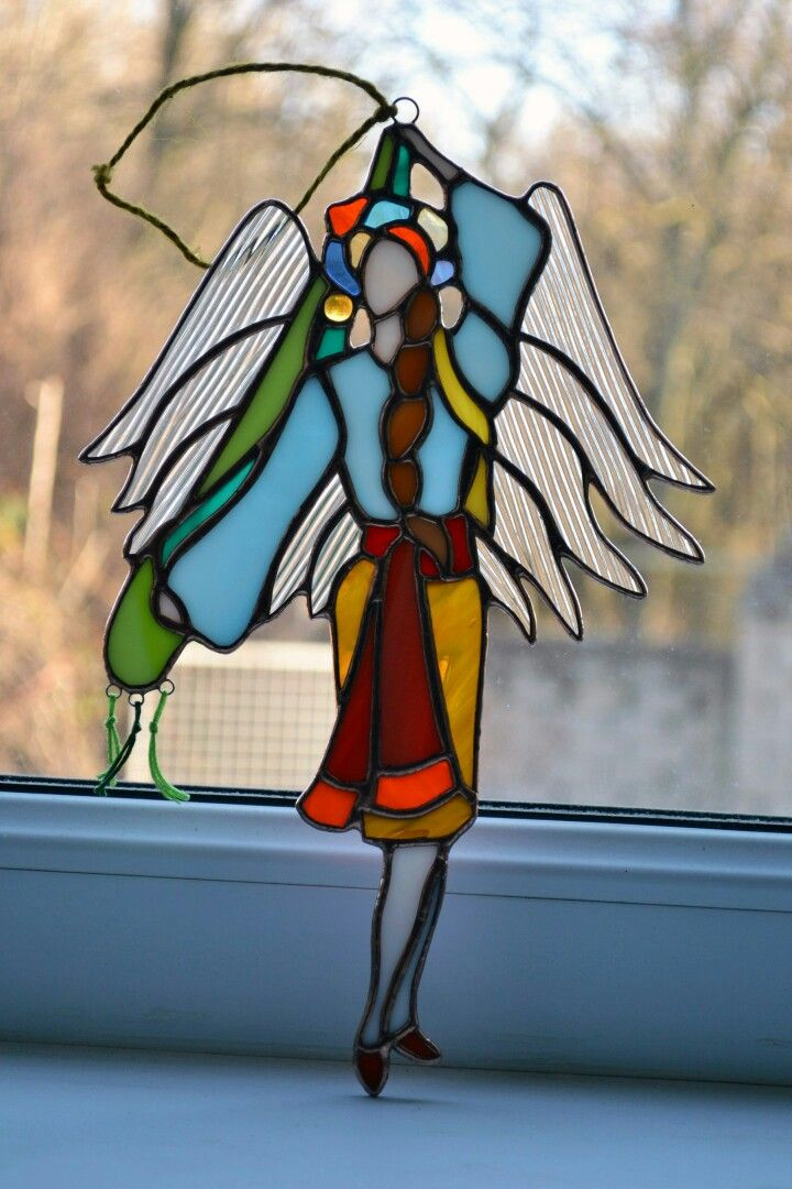 Angel of Ukraine, hope. Interior accessories, stained glass.