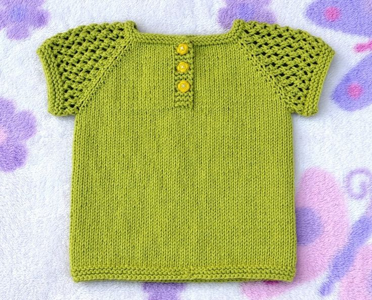 How to Knit Three-Buttons Sun Top Part 1(6 months) 6 months to 4 years sizes are available on Ravelry: http://www.ravelry.com/patterns/library/three-buttons-sun-top