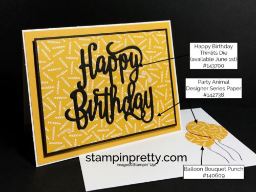 Happy Birthday Gorgeous & Happy Birthday Thinlits Die birthday card.  Mary Fish, Stampin' Up! Demonstrator.  1000+ StampinUp & SUO card ideas.  Read more https://stampinpretty.com/2017/05/simple-happy-birthday-card.html