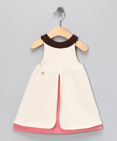 Natural  Dusty Pink Everyday Organic Dress from wobabybasics on #zulily