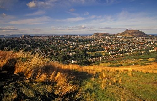 """ Edinburgh from the Braid Hills"" Love my city so much"