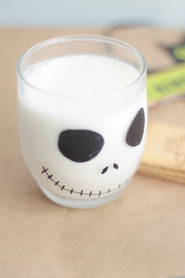 Ideas Halloween vaso Jack Skellington