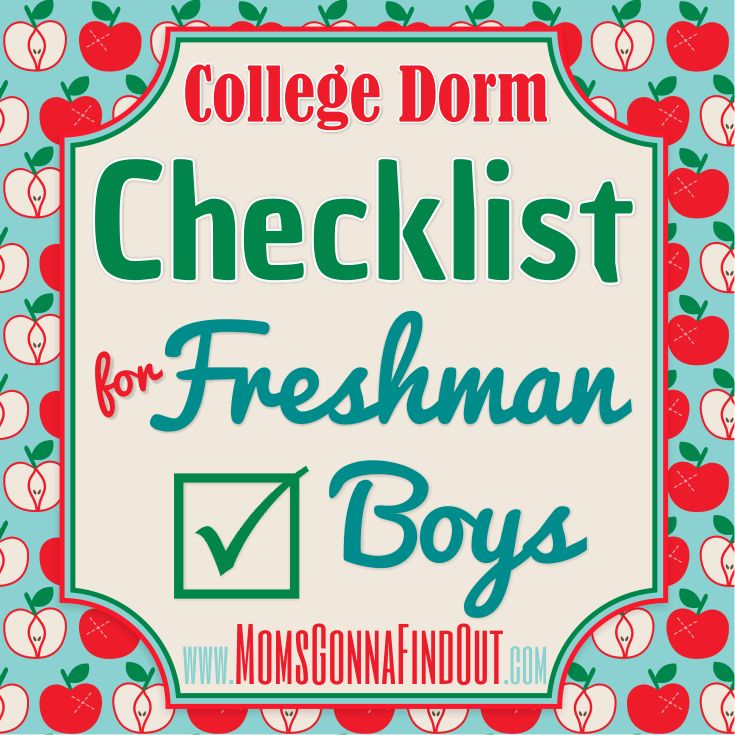 Need a college dorm checklist for freshmen boys? #college dorm checklist