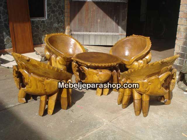 Kursi Kepiting Kayu Solid Jepara
