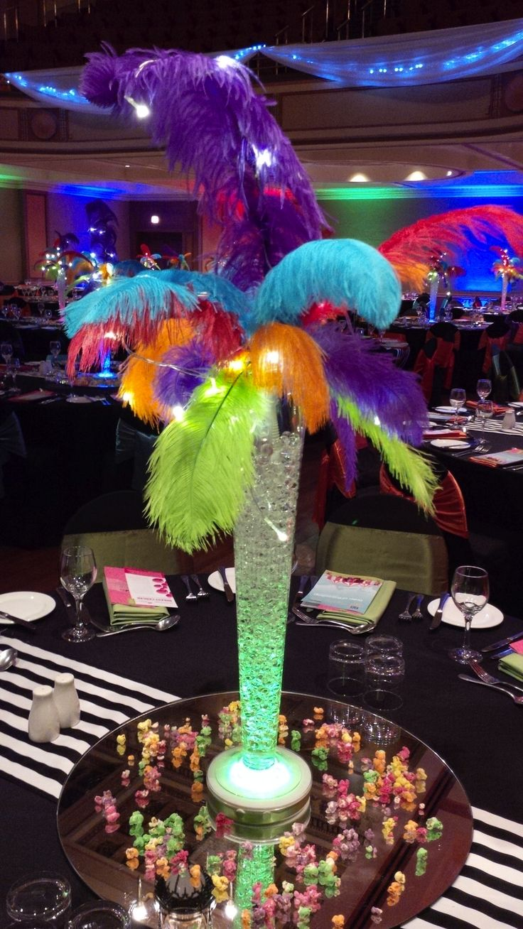 #Circus theme Newcastle Coal Infrastructure Group - love this! #feathers