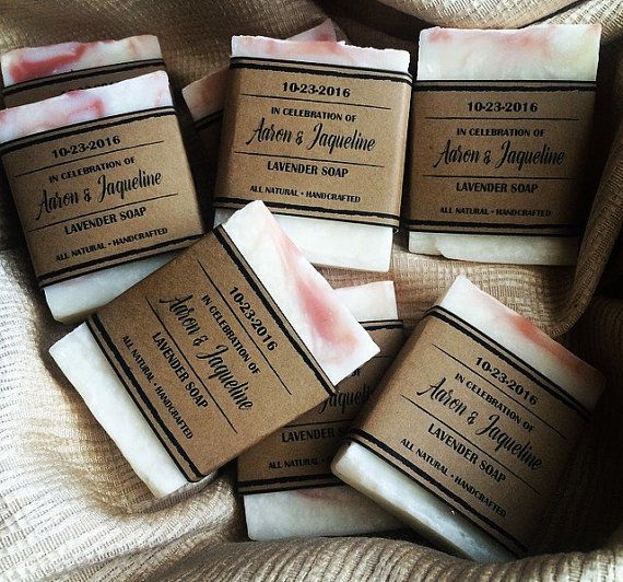 Hello from sunny Southern California! We think our handmade mini 1oz soap bars will be the perfect addition to your special day. Labels: Each favor will include a personalized label for your special day. Printed on your choice of paper (see pic 3) . Please copy and paste this into the notes to seller during check out with your details: ________________________  Label Date: Saying on Label: From Jaquelines Shower to Yours Label color: _________________________  Mini Soap Size: Weight: 1 oz…