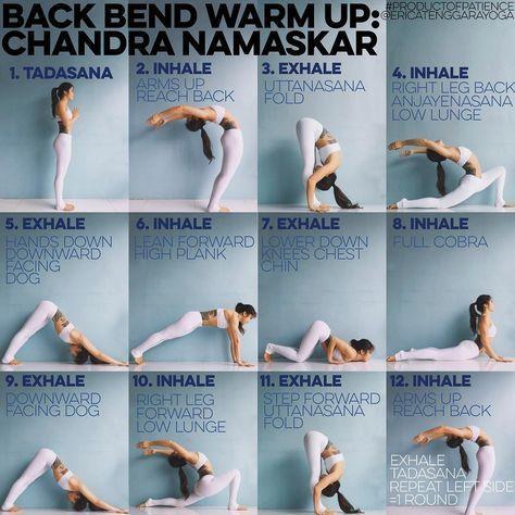 Chandra Namaskar (translated to moon salutation) or 12 step salutation This warm…