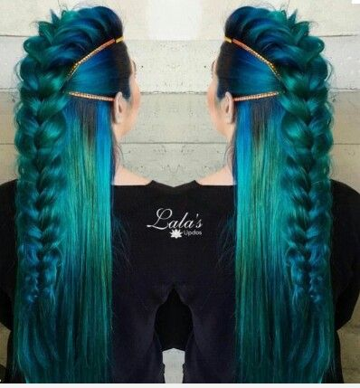 This hairstyle is effective as it has a lot of volume on the top and then sleek on the sides so each part compliments each other well.