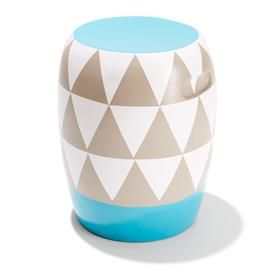 Terracotta Garden Stool - Triangle Pattern | Kmart