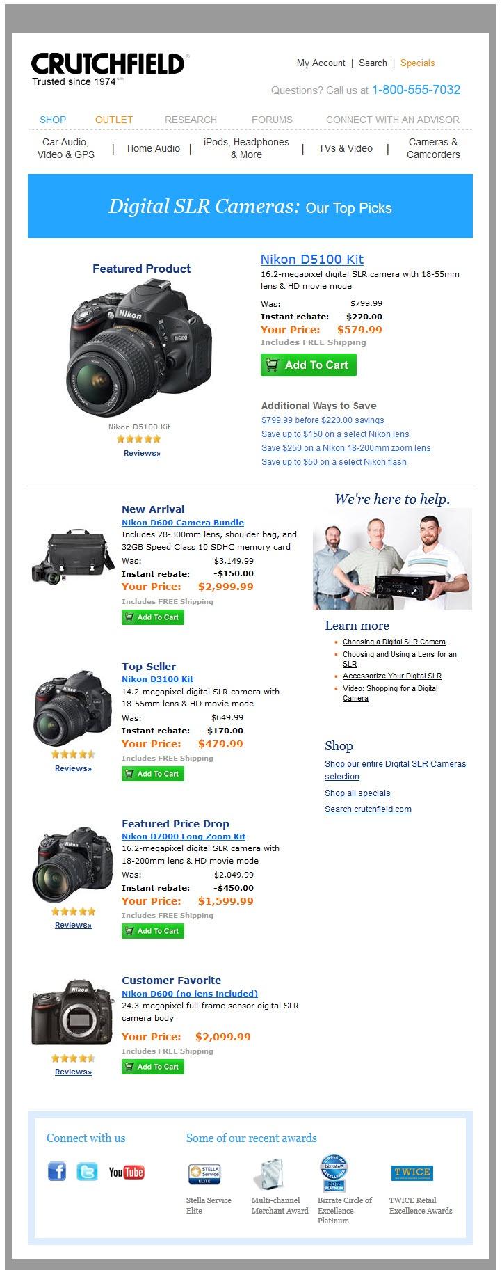 48 best work images on pinterest email newsletter design for Camera email