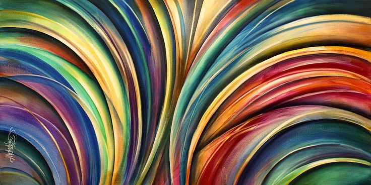 ' Curves' Painting by Michael Lang