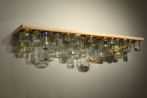 Culinary Curio: Clever Jam Jar Shelf De-Clutters & Doubles Storage Space : TreeHugger