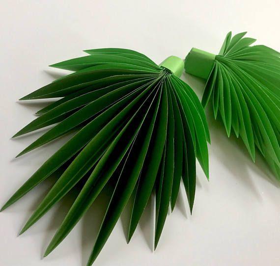 Hojas de papel hojas de verde hojas corte outs paquete de 5