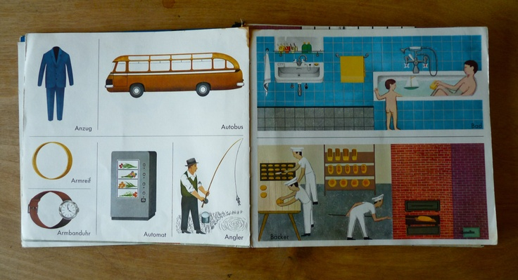 """Pictures from the picture children reading book """"Mein erster Brockhaus"""" 1974    illustrations by: Unknown"""