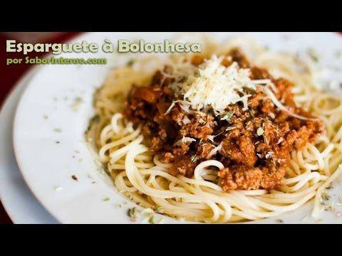 Veja a receita italiana original de esparguete à bolonhesa!