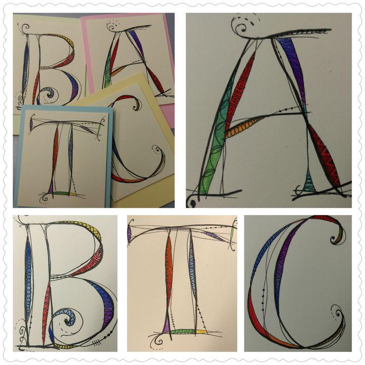 Monogram Birthday Cards