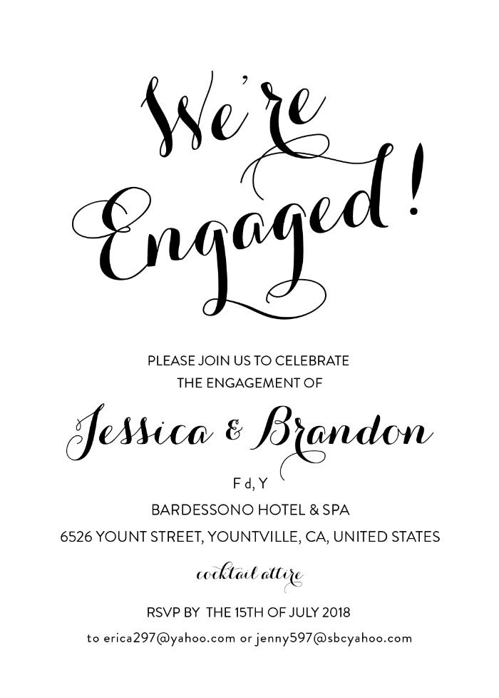 picture about Free Printable Engagement Party Invitations called No cost Engagement Social gathering Printable Freebies Printables inside