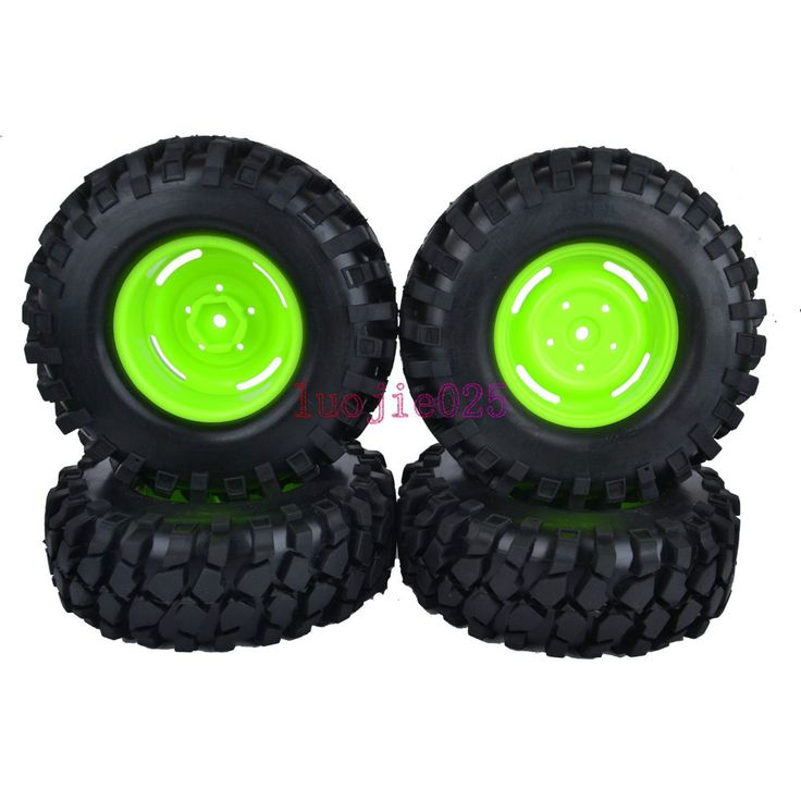 ==> [Free Shipping] Buy Best LUOJIETOYS 4PCS RC 110 Car Rock Crawler Tyres Green Wheels Online with LOWEST Price | 1958023276