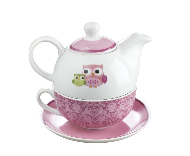 Tea for One Owl Wisdom