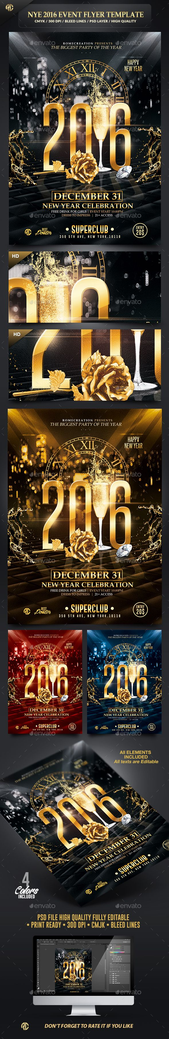 best images about party flyers ideas dj party new year event 2016 psd flyer template