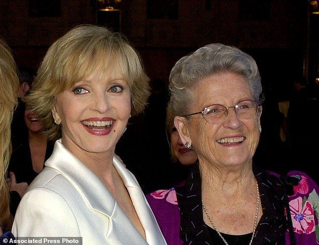 TV favourites: Florence Henderson, left, appears with Ann B. Davis at ABC's 50th Anniversary Celebration in Los Angeles in 2003