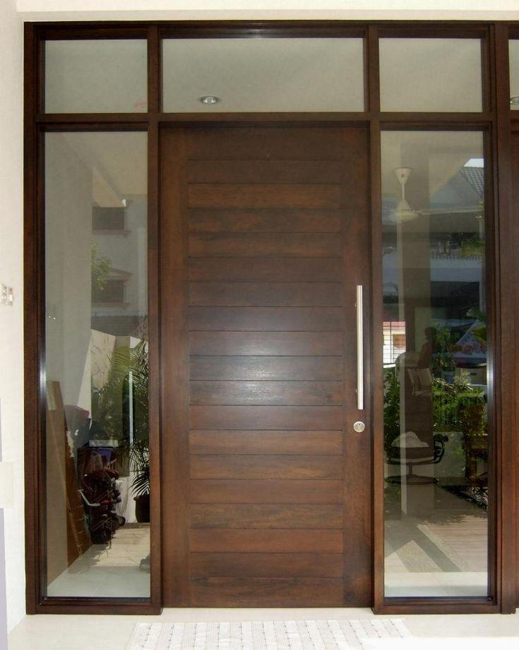 Front Door And Window Design Photo