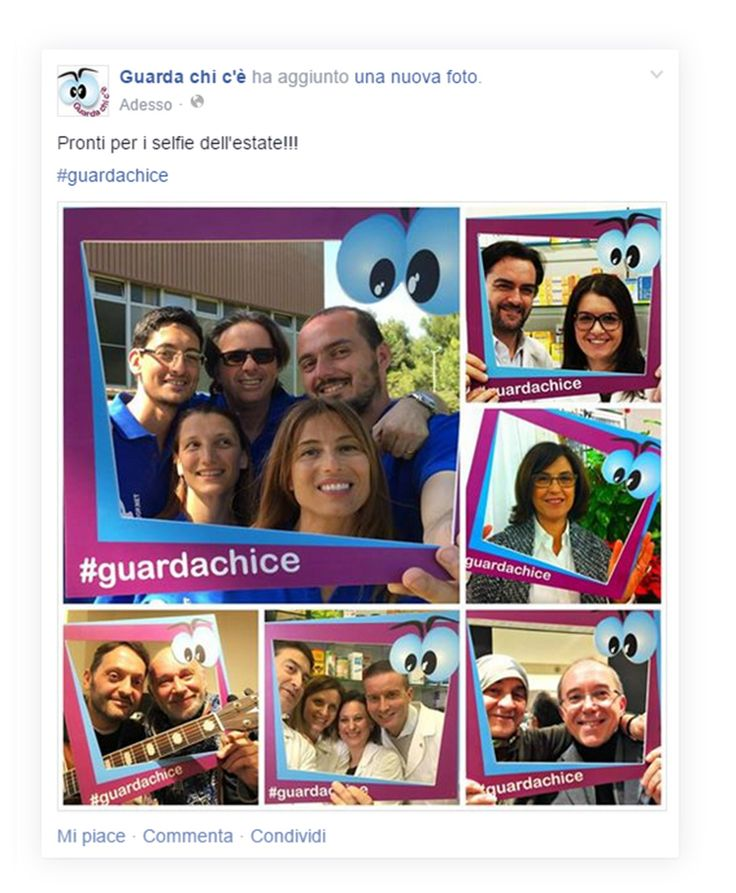 Il selfie dell'estate con Guarda Chi C'è Inserendo nei vostri simpatici selfie estivi l'hashtag  #guardachice , avrete la possibilità di essere selezionati per la nuova sigla della prossima stagione.