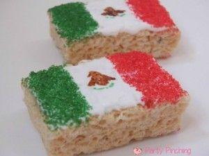 Mexican Flag Rice Krispy Treat