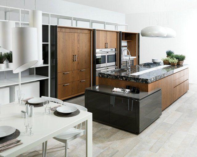 1000 id es sur le th me meubles en bois fonc sur for Cuisine bois gris fonce