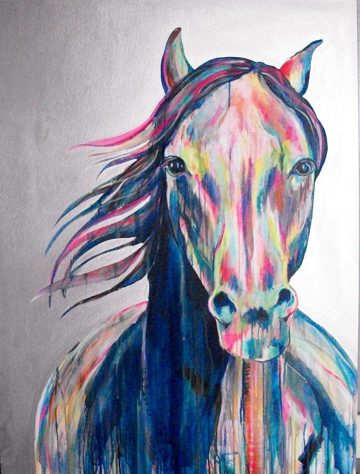 "J.R. Ewing Original Horse Painting 36x48"" painting by Jennifer Moreman"